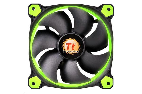 Thermaltake Riing 14 High Static Pressure Green LED Radiator Fan