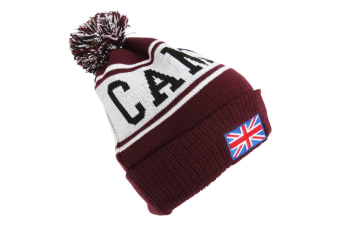 Devoted2style Adults Unisex Cambridge Winter Hat (Maroon) (One Size)