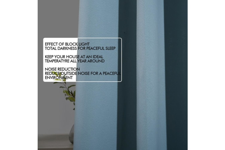 2x Blockout Curtains Panels 3 Layers Eyelet Room Darkening 140x230cm Taupe  -  Taupe140x230cm