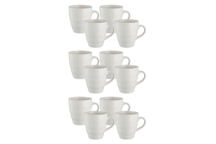12x Mason Cash 350ml Classic Stoneware Mugs Coffee Tea Drink Water Home Cup Cane