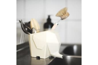 Elephant 3 in 1 Pot - Cutlery Drainer | Plant Pot | Pen Holder | animal animals pets knife fork pencils stationery