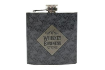 Cabinet Of Curiosities Whiskey Business Hip Flask (Steel) (One Size)