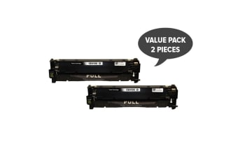 CE410X #305X Premium Generic Black Toner (Two Pack)