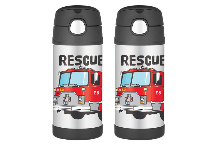 2PK Thermos Funtainer 355ml Insulated Stainless Steel Water Bottle Fire Truck