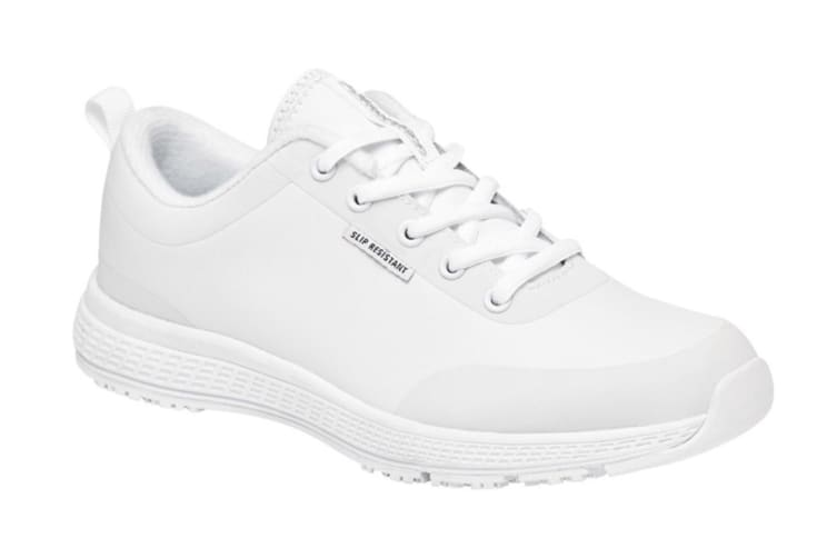 King Gee Women's Superlite Lace Shoe (White, Size 11)