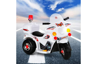 Kids Ride On Car Motorcycle Motorbike Patrol Battery Electric Toy Police