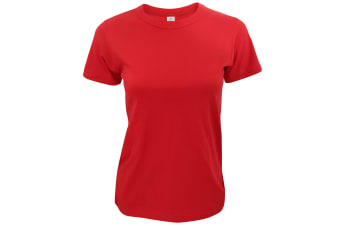 B&C Exact 190 Ladies Tee / Ladies Short Sleeve T-Shirts (Red) (XL)