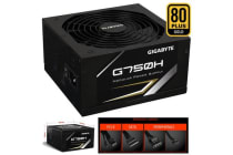 Gigabyte G750H 750W ATX PSU Power Supply 80+ Gold >90% 140mm Fan Modular Black Flat Cables Single +12V Rail  Japanese Capacitors >100K Hrs MTBF