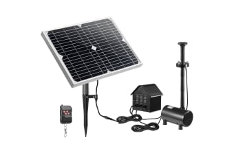 70W Solar Fountain Water Pump with Battery and LED Light for Birdbath Garden Pool