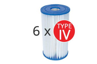 6 x Bestway Above Ground Swimming Pool Cartridge Filter Element Type IV - 58095