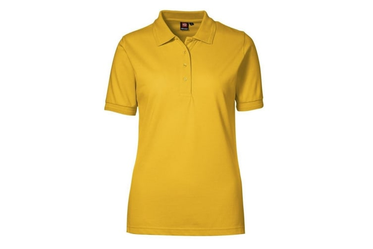 ID Womens/Ladies Pro Wear Short Sleeve Regular Fitting Classic Polo Shirt (Yellow) (4XL)