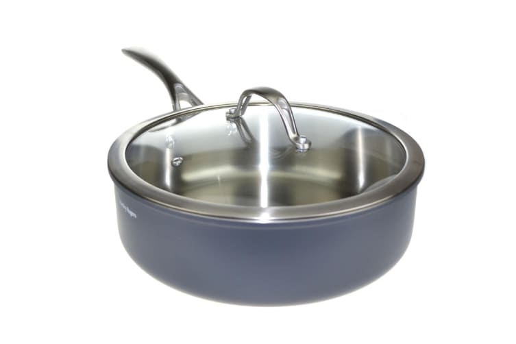 Stanley Rogers Bi-ply Professional Stainless Steel Saute Pan With Lid 26cm