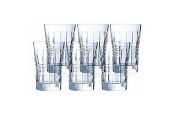 6PK Cristal D'Arques Rendez-Vous 360ml Highball Hiball Glasses Bar Tableware