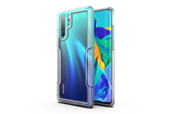 MAXSHIELD Slim Clear Heavy Duty ShockProof Case for  P30 Pro-Clear Black