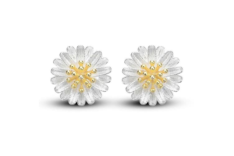 .925 Daisy In Bloom Studs Earrings-Silver
