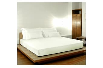 Memory Foam Mattress Hotel Quality Contour Bed Mattress with Removable Cover - Queen - White