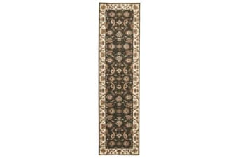 Stunning Formal Floral Design Rug Green 400x80cm