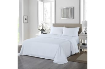 Royal Comfort 1200 Thread Count Sheet Set 4 Piece Ultra Soft Satin Weave Finish - Queen - White
