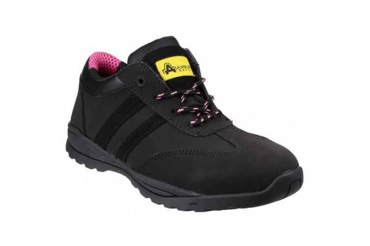 Amblers Safety Womens/Ladies FS706 Sophie Safety Leather Shoes (Black) (9 UK)