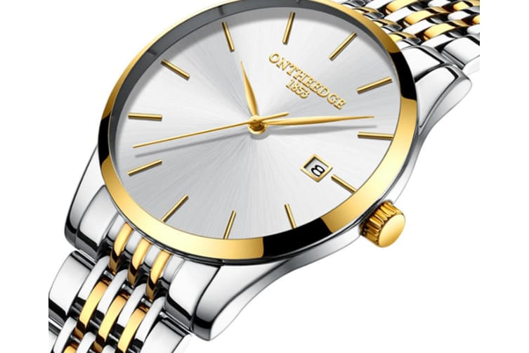 Select Mall Fashion Waterproof Watch Ultra-thin Steel with Quartz Watch Calendar Waterproof Watch Watch Suitable for Men-5