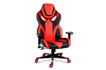 PU Leather Gaming Style Desk Chair (Black) and (Red)