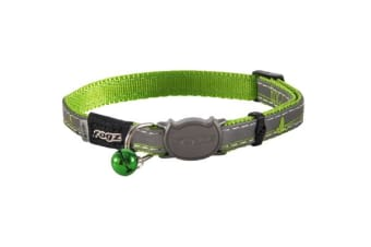 Rogz Nightcat Safeloc Collar Lime Swallow - S