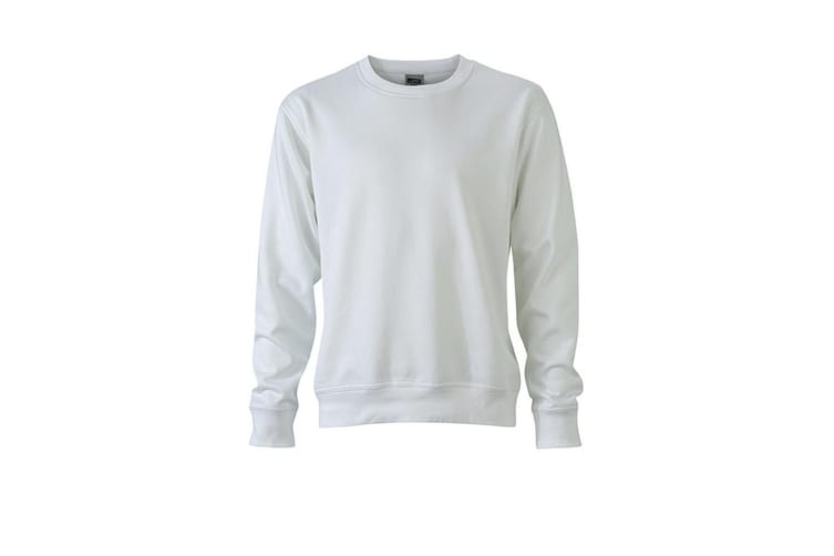 James and Nicholson Unisex Workwear Sweatshirt (White) (5XL)