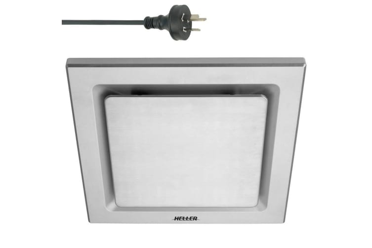 Heller 25cm DIY Square Ducted Exhaust Fan w/ Duct Kit/Bathroom/Laundry Silver