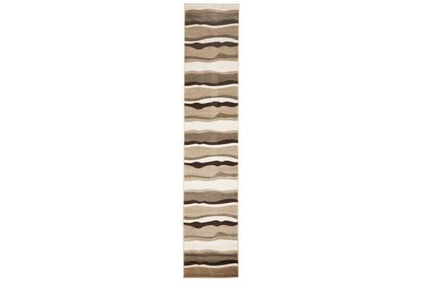 Modern Thick Wave Rug Beige Brown 400x80cm