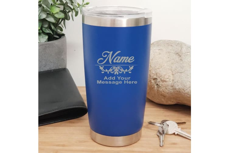 Teacher Insulated Travel Mug 600ml Dark Blue