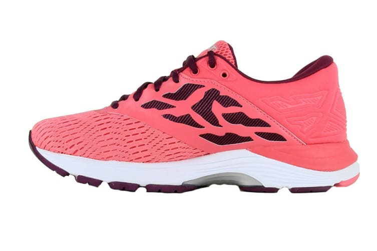 ASICS Women's GEL-Flux 5 Running Shoe (Pink Cameo/Silver, Size 9)