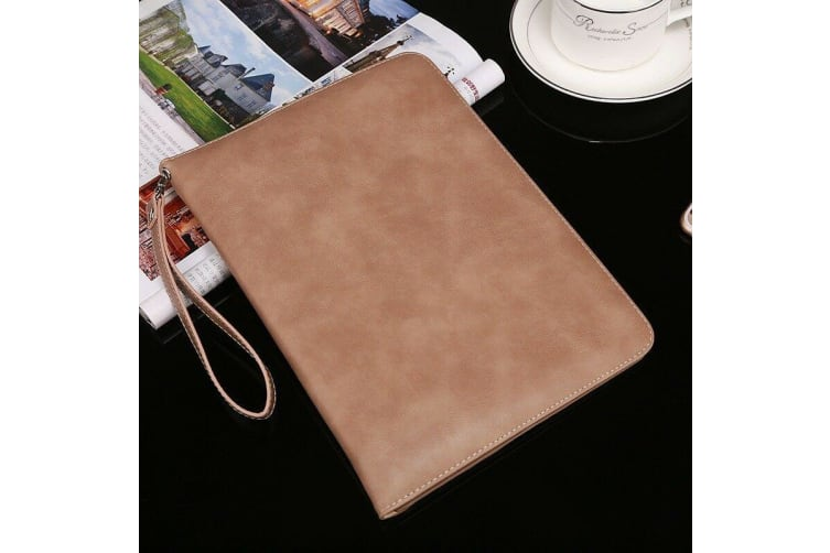 Genuine Luxury Leather Case Cover for Apple iPad 10.2 2019 7th Gen-Apricot