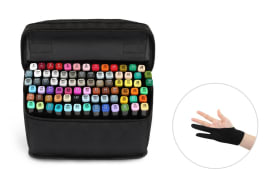 Kogan 80-Piece Colour Marker Set (Black)