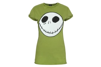 Nightmare Before Christmas Womens/Ladies Jack Reverse Seam T-Shirt (Green)