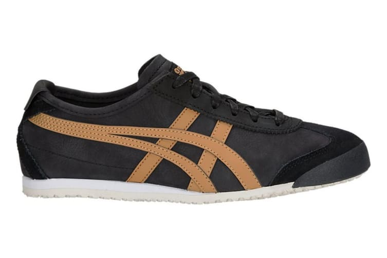 hot sale online 25908 927f4 Onitsuka Tiger Mexico 66 Shoe (Black/Caravan, Size 6.5)