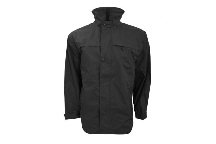 Result Mens Mid-Weight Multi-Function Waterproof Windproof Jacket (Black/Grey) (XL)