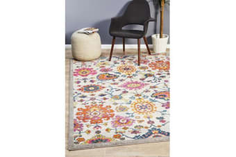 Multi Wildflower Vintage Look Rug 330X240cm
