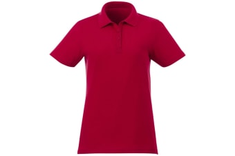 Elevate Liberty Womens/Ladies Private Label Short Sleeve Polo Shirt (Red) (M)