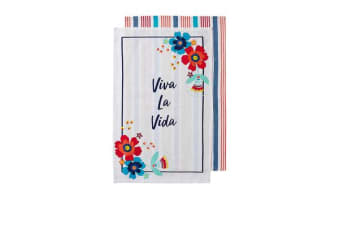 Ladelle Fiesta Viva La Vida Kitchen Towel 2pk