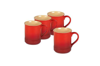 Chasseur La Cuisson Mug 350ml Set of 4 Inferno Red