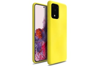 ZUSLAB Galaxy S20 Ultra 5G 2020 Nano Silicone Case Shockproof Gel Rubber Bumper Protective Cover for Samsung - Yellow