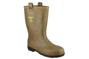 Footsure 95 Tan PVC Rigger Safety Wellingtons / Mens Safety Boots (Tan)