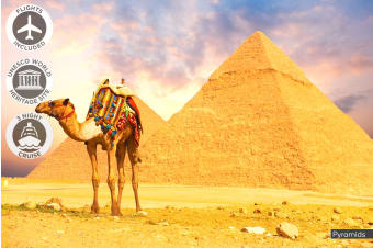 EGYPT: 10 Day Taste of Egypt Tour Including Flights for Two