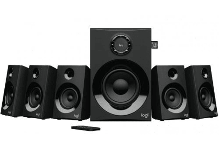 LOGITECH Z607 5.1 Surround Sound Speakers SD USB FM 160 WATTS 133.35 mm