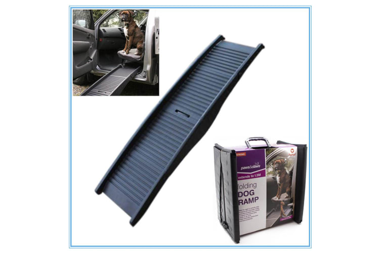 Dog Folding Car Ramp Plastic Lightweight Bi Fold Strong Pet Travel Transport Car