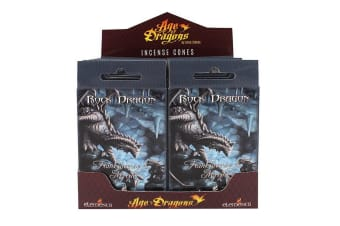 Age Of Dragons Rock Dragon Incense Cones (12 Packs Of 15) (Grey)