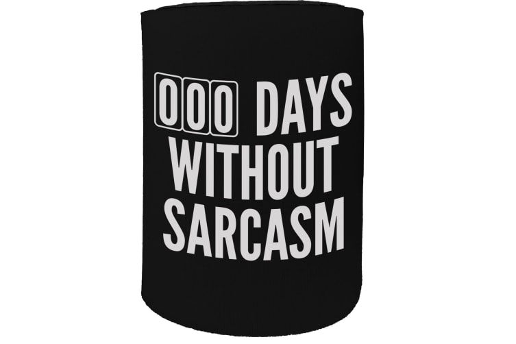 123t Stubby Holder - Days Without Sarcasm Funny - Funny Novelty