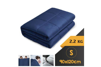WEIGHTED BLANKET SINGLE Heavy Gravity NAVY BLUE 2.2KG