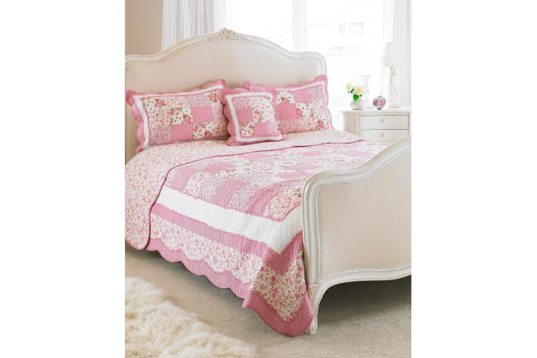 Riva Home Toulouse Bedspread (Pink) (Single)