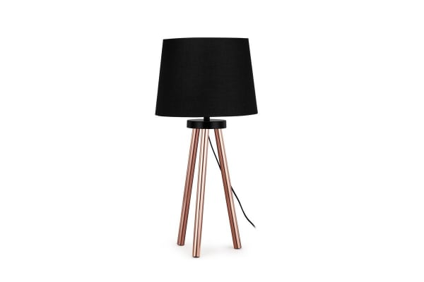 Ovela Tripod Copper Legs Table Lamp